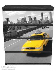 Möbelfolie New York Yellow Taxi II – Bild 1