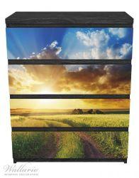 Möbelfolie Feldweg in den Sonnenuntergang – Bild 1