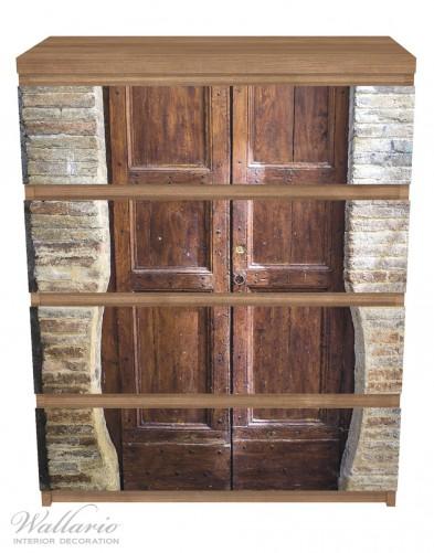 Möbelfolie Holztür braun – Bild 3