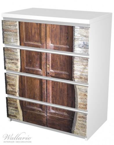 Möbelfolie Holztür braun – Bild 5