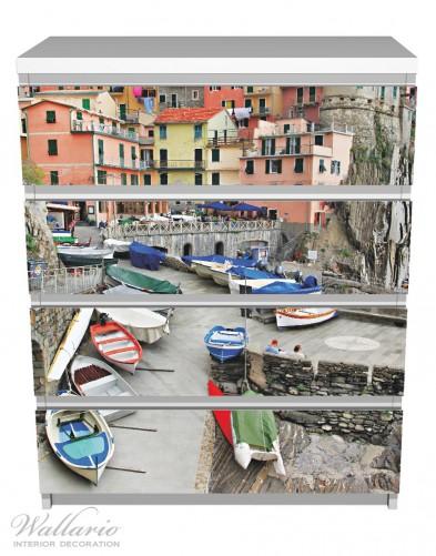 Möbelfolie Bunter Hafen in Italien – Bild 2