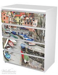 Möbelfolie Bunter Hafen in Italien – Bild 5