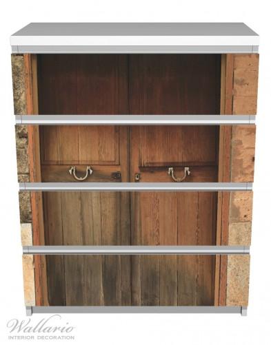 Möbelfolie Holztür natur – Bild 2