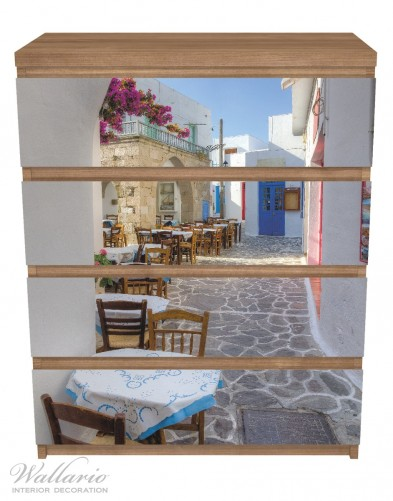 Möbelfolie Gasse in Griechenland – Bild 3