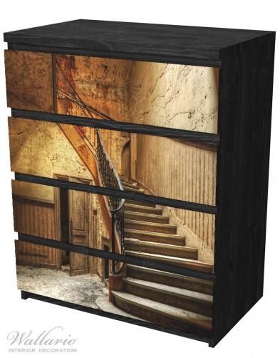 Möbelfolie Rustikale Holztreppe – Bild 4