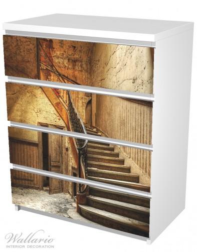 Möbelfolie Rustikale Holztreppe – Bild 5