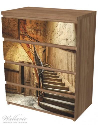 Möbelfolie Rustikale Holztreppe – Bild 6