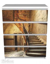 Möbelfolie Rustikale Holztreppe – Bild 2