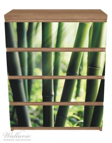 Möbelfolie Bambuswald und Sonnenstrahlen – Bild 3