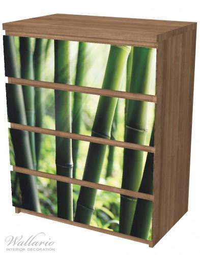 Möbelfolie Bambuswald und Sonnenstrahlen – Bild 6