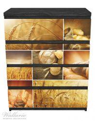 Möbelfolie Getreide und Brotsorten aus Weizen – Bild 1