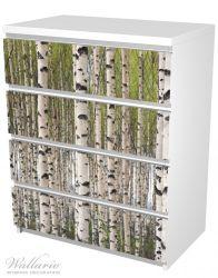 Möbelfolie Birkenwald - Baumstämme in schwarz weiß – Bild 5
