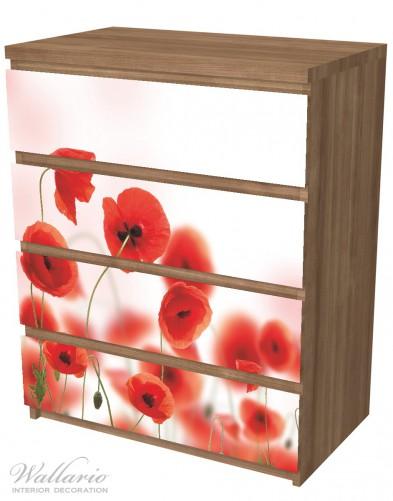 Möbelfolie Leuchtende Mohnblumen - Rote Mohnblumenblüten – Bild 6