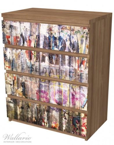 Möbelfolie Bemalte Holzplanken mit alter Schrift – Bild 6