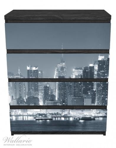Möbelfolie New York Skyline - Schwarz Weiß – Bild 1