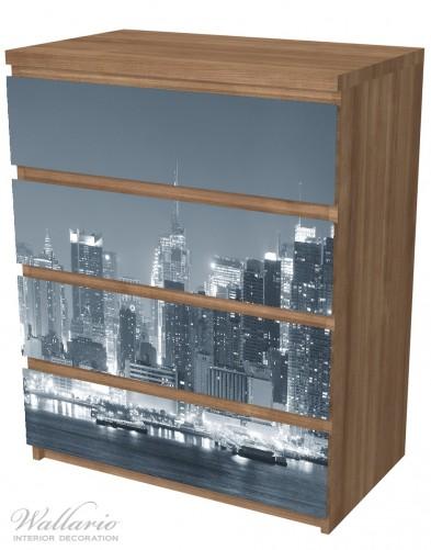 Möbelfolie New York Skyline - Schwarz Weiß – Bild 6