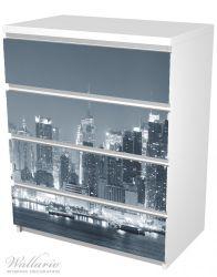 Möbelfolie New York Skyline - Schwarz Weiß – Bild 5
