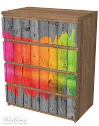Möbelfolie Holzpaneel - Bemaltes buntes Holz – Bild 6