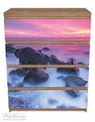 Möbelfolie Felsen im Meer bei Sonnenuntergang – Bild 3