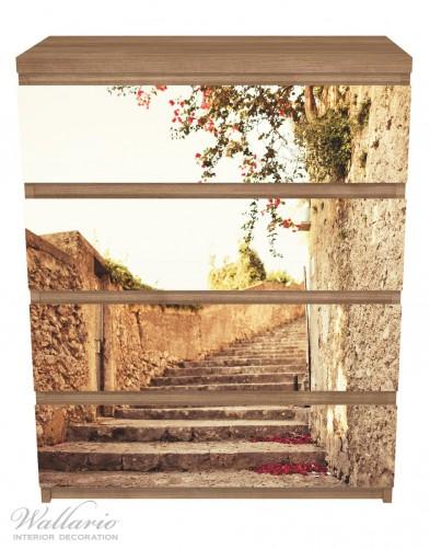Möbelfolie Steinerne Treppe in Italien – Bild 3