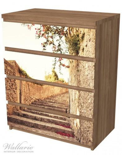 Möbelfolie Steinerne Treppe in Italien – Bild 6