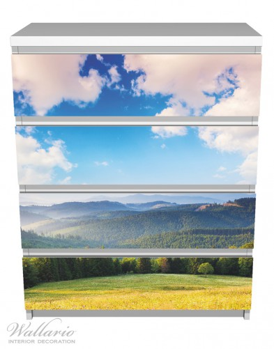 Möbelfolie Berglandschaft im Gebirge unter blauem Himmel – Bild 2