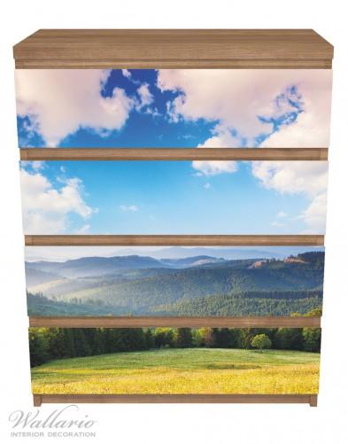 Möbelfolie Berglandschaft im Gebirge unter blauem Himmel – Bild 3