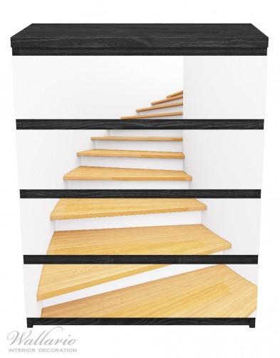 Möbelfolie Wendeltreppe aus hellem Holz – Bild 1