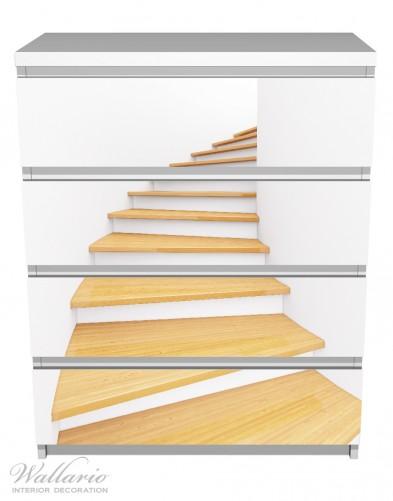 Möbelfolie Wendeltreppe aus hellem Holz – Bild 2