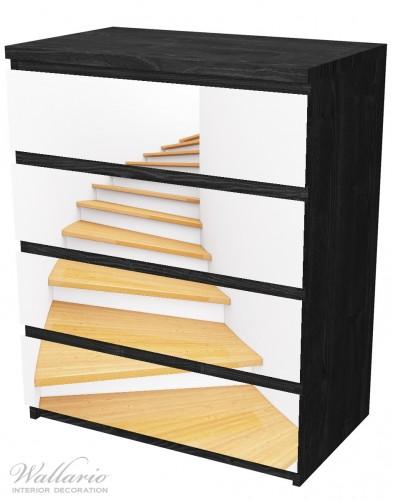 Möbelfolie Wendeltreppe aus hellem Holz – Bild 4