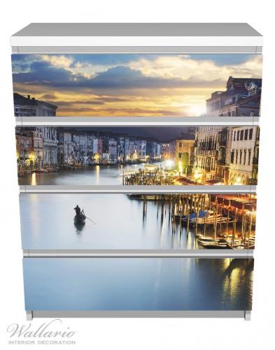 Möbelfolie Canal Grande in Venedig am Abend mit untergehender Sonne – Bild 2
