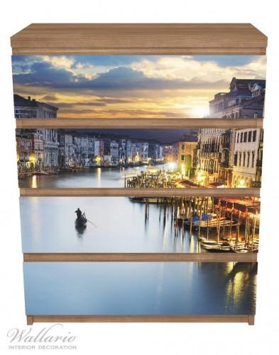 Möbelfolie Canal Grande in Venedig am Abend mit untergehender Sonne – Bild 3