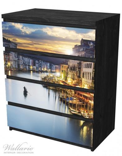 Möbelfolie Canal Grande in Venedig am Abend mit untergehender Sonne – Bild 4