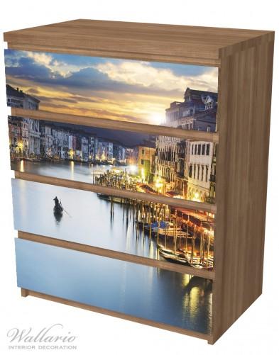 Möbelfolie Canal Grande in Venedig am Abend mit untergehender Sonne – Bild 6