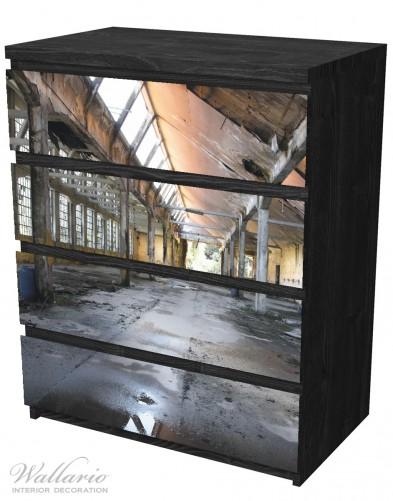 Möbelfolie Alte Industriehalle, leerstehend und einsam – Bild 4