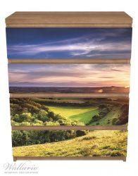 Möbelfolie Farbenfroher Sonnenuntergang in England – Bild 3