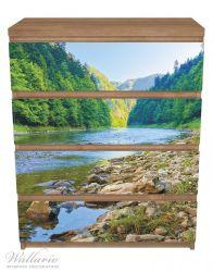Möbelfolie Fluss in den Bergen an steinigem Ufer – Bild 3