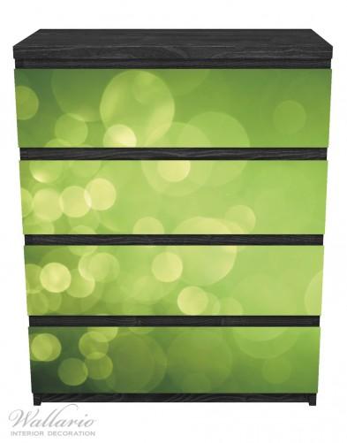 Möbelfolie Abstrakte grüne Kreise, grüne Lichtpunkte – Bild 1