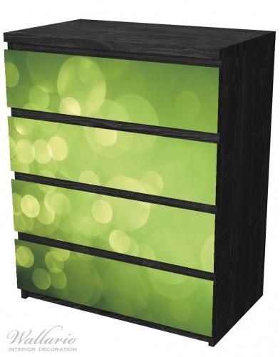 Möbelfolie Abstrakte grüne Kreise, grüne Lichtpunkte – Bild 4