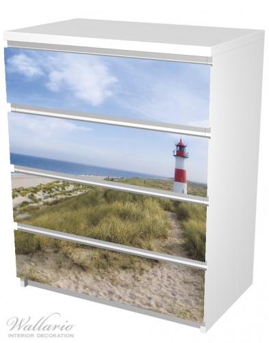 Möbelfolie Am Strand von Sylt, Leuchtturm auf der Düne, Panorama – Bild 5