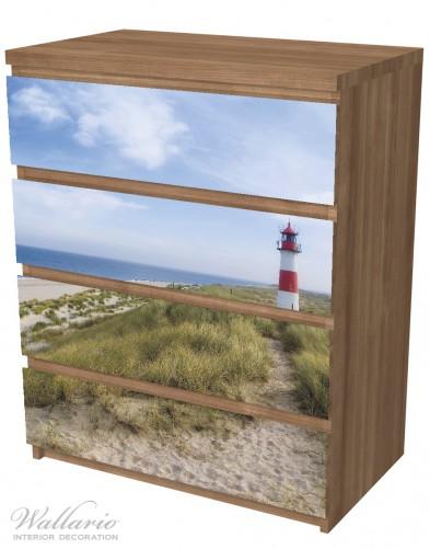 Möbelfolie Am Strand von Sylt, Leuchtturm auf der Düne, Panorama – Bild 6