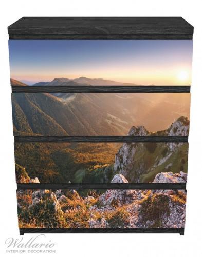 Möbelfolie Berglandschaft mit Sonnenuntergang in der Slowakei – Bild 1