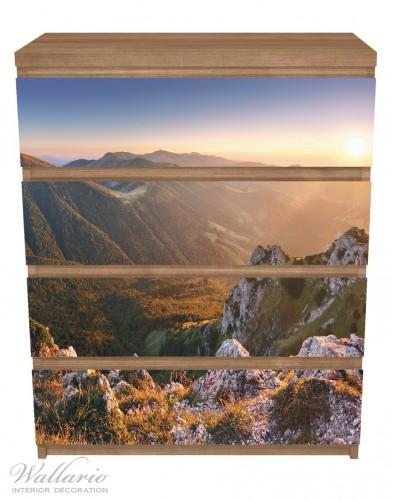 Möbelfolie Berglandschaft mit Sonnenuntergang in der Slowakei – Bild 3