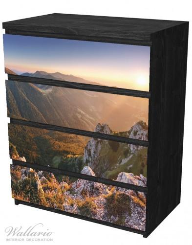 Möbelfolie Berglandschaft mit Sonnenuntergang in der Slowakei – Bild 4