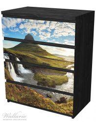 Möbelfolie Island Panorama Fluss, Berge und blauer Himmel – Bild 4