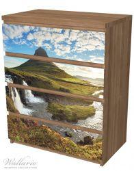 Möbelfolie Island Panorama Fluss, Berge und blauer Himmel – Bild 6