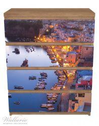 Möbelfolie Hafen bei Nacht - Italien hell erleuchtet – Bild 3