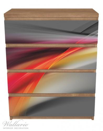 Möbelfolie Schwarz rot pink - Abstraktes Design – Bild 3