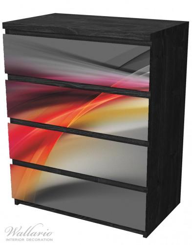Möbelfolie Schwarz rot pink - Abstraktes Design – Bild 4