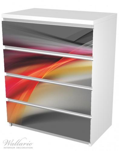 Möbelfolie Schwarz rot pink - Abstraktes Design – Bild 5